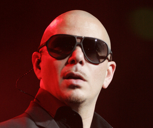 pitbull, singer, and sunglasses image