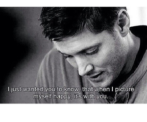 dean, happy, and supernatural image