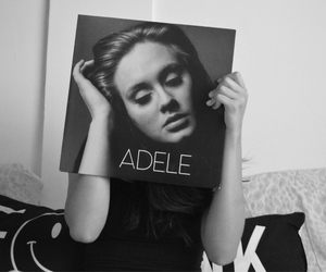 Adele, bw, and chanel image