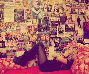 girl, room, and poster image