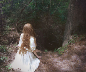 girl, forest, and wonderland image