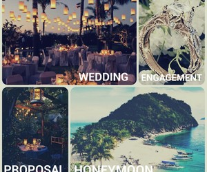Dream, engagement, and honeymoon image