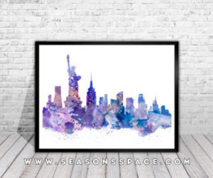 art print, usa print, and new york poster image