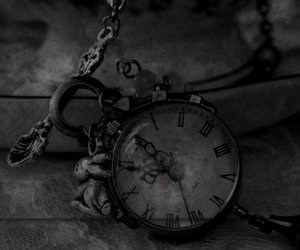 clock, vintage, and black and white image