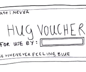 hug, voucher, and cute image