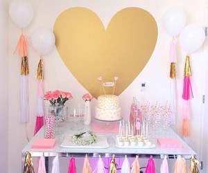 ballons, celebrate, and gold image
