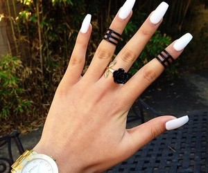 nails, white, and watch image