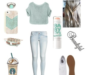 casual, mint, and vans image
