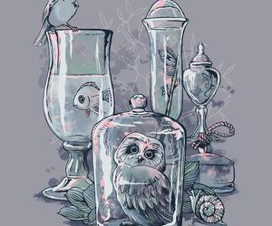 art, animals, and illustration image