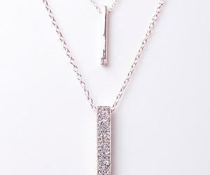 diamonds, gold necklace, and diamonte image