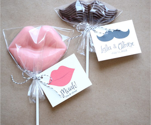 candy, lips, and mustache image