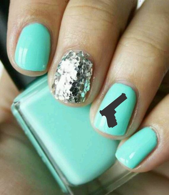 Nail Art Gun Decal discovered by OhGodHelo on We Heart It
