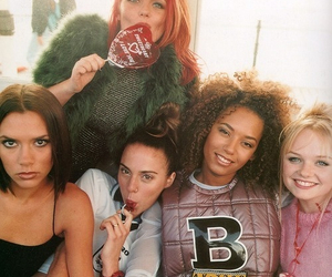 90s, spice girls, and beckham image