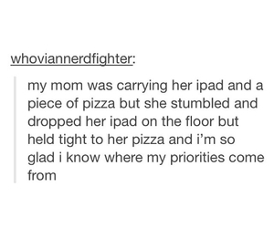 funny, mom, and pizza image