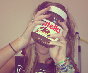 funny, nutella, and girl image