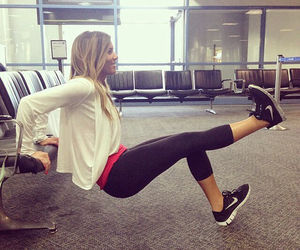 airport, fit, and fitness image