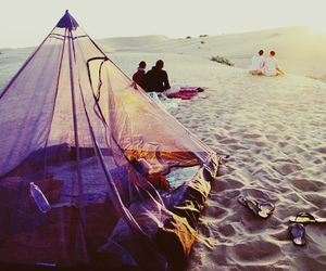 beach, summer, and tent image