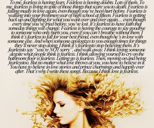Taylor Swift, fearless, and quote image