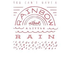 rain, text, and rainbow image