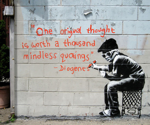 quote, BANKSY, and graffiti image