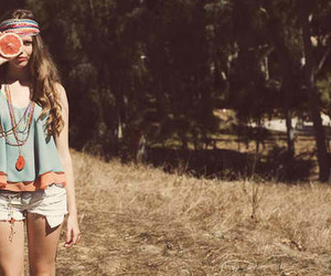 girl, summer, and hippie image