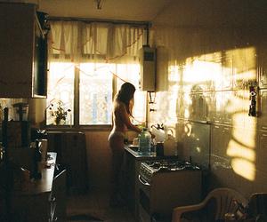 girl, kitchen, and vintage image