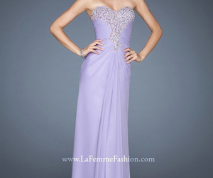 dress, elegant, and lavender image
