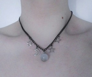 collarbones, moon, and soft grunge image