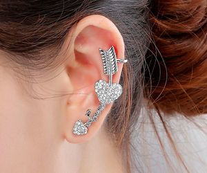 arrow, ear cuffs, and love heart image