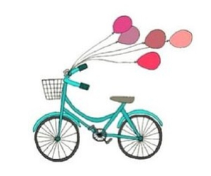 bicycle, balloons, and bike image
