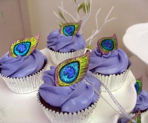 peacock, cupcake, and food image