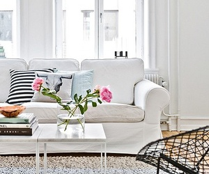 design, living room, and white image