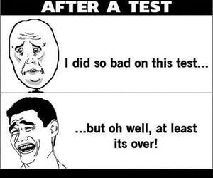 school, test, and funny image