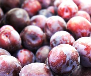 food, fruit, and plums image