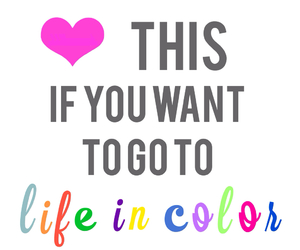 color, heart, and life image