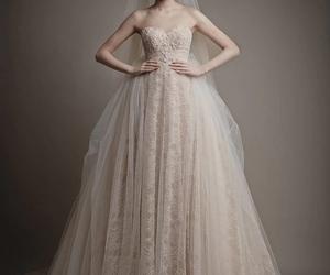 elegant, wedding dress, and fluffy image