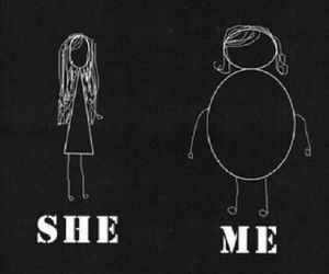 me, fat, and she image