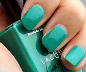 nails, green, and nail polish image