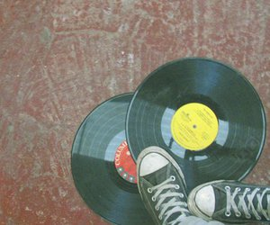 converse, floor, and music image
