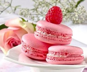 pink, sweet, and macarons image