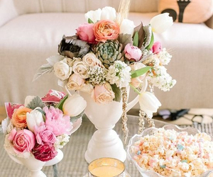 flowers, romantic, and home image