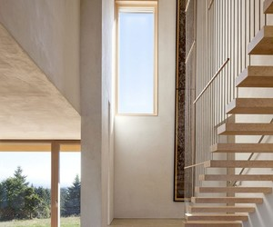 exterior, natural lights, and wooden staircase image