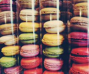 food, heart, and macaroons image