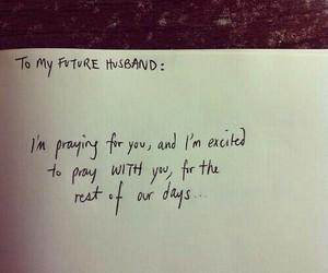 pray, couple, and husband image