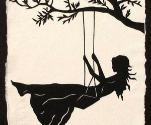 girl, art, and swing image