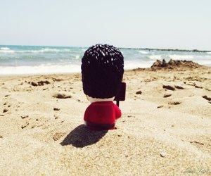 beach, london, and black image