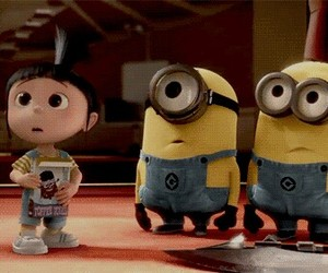 minions, despicable me, and agnes image