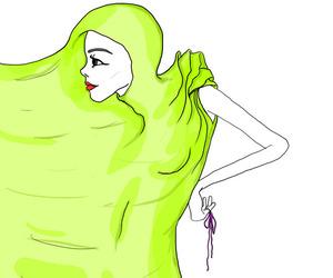 art, dress, and illustration image