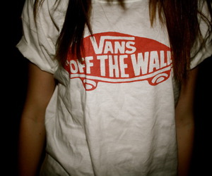vans, girl, and shirt image