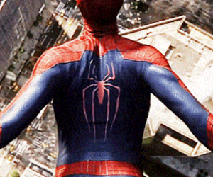 free fall, spiderman, and peter parker image